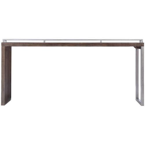 Reilly Console Table in Sable Brown, Gray Mist