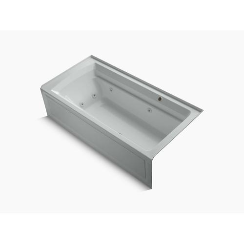 "Ice Grey 72"" X 36"" Alcove Whirlpool Bath With Bask Heated Surface, Integral Flange, and Right-hand Drain"