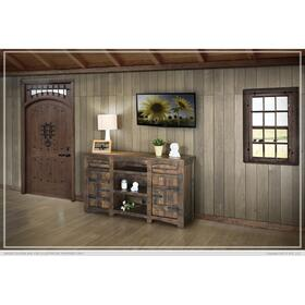 """See Details - 60"""" TV Stand w/2 Doors, 2 Drawer & 3 shelves"""