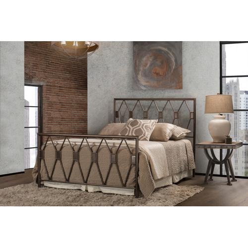 Tripoli Twin Bed, Metallic Brown
