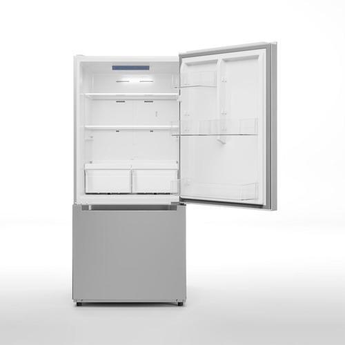 Midea - 18.7 Cu. Ft. Bottom Mount Freezer Refrigerator