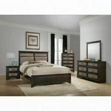ACME Anatole Eastern King Bed - 26277EK - Copper PU & Dark Walnut