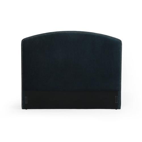 Queen Size Plush Navy Cover Surry Curved Headboard