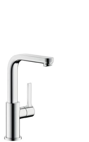 Chrome Single-Hole Faucet 230 with Swivel Spout and Pop-Up Drain, 1.2 GPM Product Image