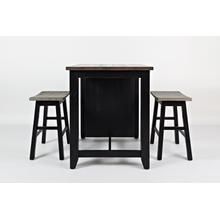 1702 3PC Counter Height Dinette Set in Vintage Black