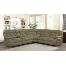 Camargue Tan Power Reclining Sectional - Add More Seats