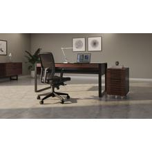 View Product - Corridor 6507 Mobile File Pedestal in Chocolate Stained Walnut