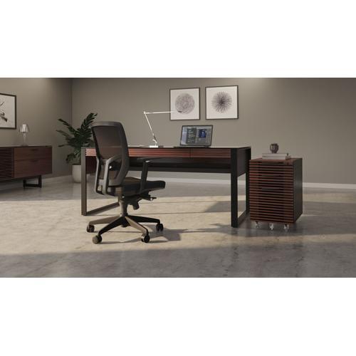 BDI Furniture - Corridor 6507 Mobile File Pedestal in Chocolate Stained Walnut