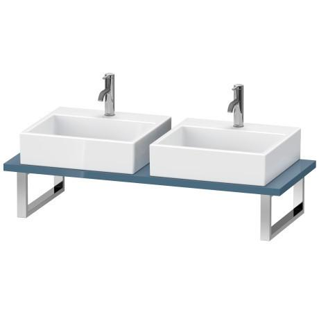 Console For Above-counter Basin And Vanity Basin, Stone Blue High Gloss (lacquer)