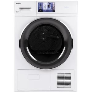 "Haier Appliance4.1 cu.ft. Capacity Smart 24"" Ventless Condenser Frontload Electric Dryer with Stainless Steel Basket"