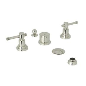 Campo Five Hole Bidet Faucet - Polished Nickel with Industrial Metal Lever Handle