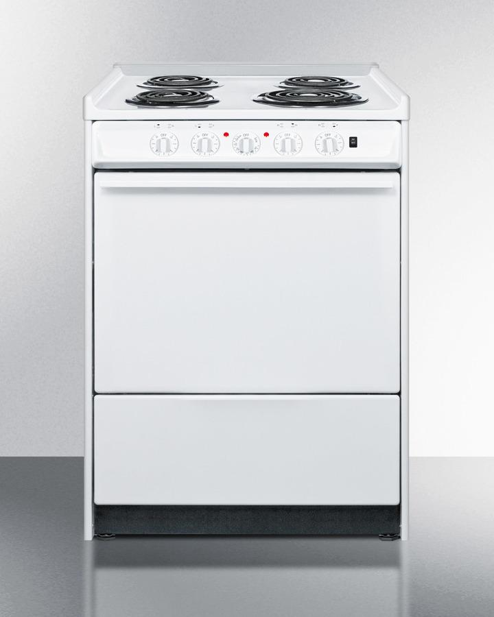 """Summit24"""" Wide Electric Coil Top Range"""