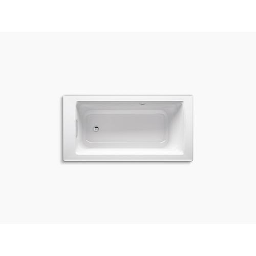 """White 62"""" X 32"""" Freestanding Bath With Bask Heated Surface"""