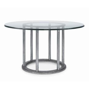 "Mesa Cornet Dining Table With 54"" Round Glass Top"