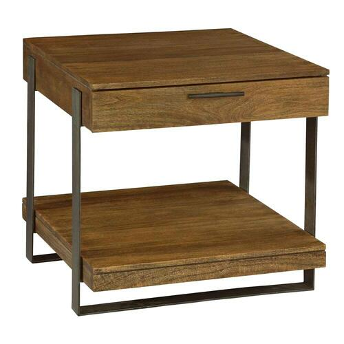 2-3705 Bedford Park Iron Strapping Lamp Table with Drawer