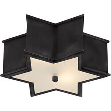 View Product - Alexa Hampton Sophia 2 Light 14 inch Gun Metal Flush Mount Ceiling Light