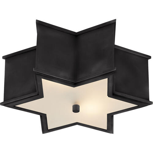 Visual Comfort - Alexa Hampton Sophia 2 Light 14 inch Gun Metal Flush Mount Ceiling Light