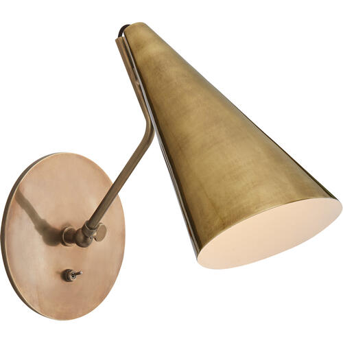 AERIN Clemente 1 Light 6 inch Hand-Rubbed Antique Brass Wall Light