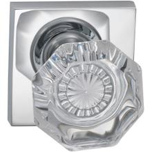 Interior Traditional Knob Latchset with Square Rose in (US26 Polished Chrome Plated)