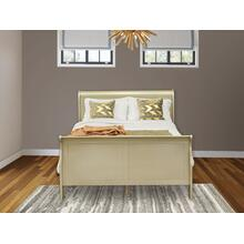 West Furniture Louis Philippe Queen Size bed in Metallic Gold Finish