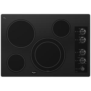 "WhirlpoolGold® 30-inch Electric Ceramic Glass Cooktop with 12""/9"" Dual Radiant Element"
