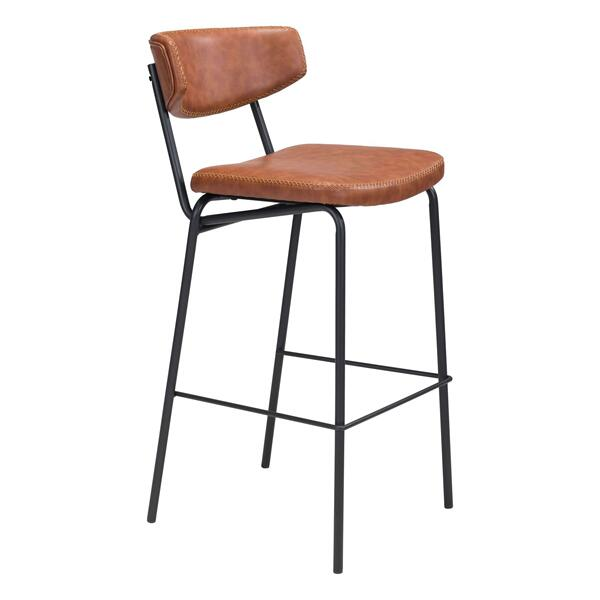 See Details - Sharon Bar Chair Vintage Brown