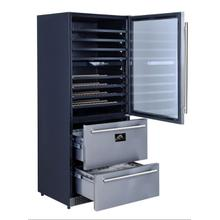 View Product - Capraia - Triple Temp Zones - Built-in or Free Standing Dual Zone Wine Cooler with two refrigerator drawers