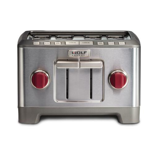 4 Slice Toaster Red Knob