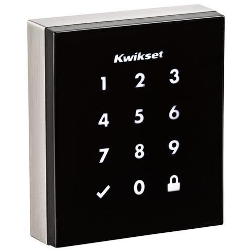 Kwikset - Obsidian Keywayless Electronic Touchscreen Smart Deadbolt with Z-Wave Technology - Satin Nickel