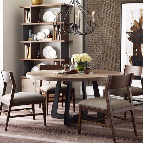 AD Modern Synergy Concentric Round Dining Table Complete
