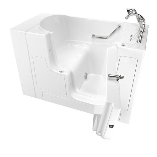 American Standard - Gelcoat Value Series 30x52-inch Outward Opening Door Soaking Walk-In Bathtub  American Standard - White