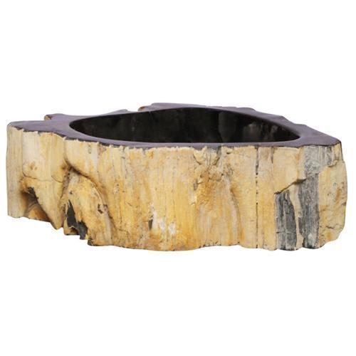 Tali Petrified Wood Above Counter Basin - Black