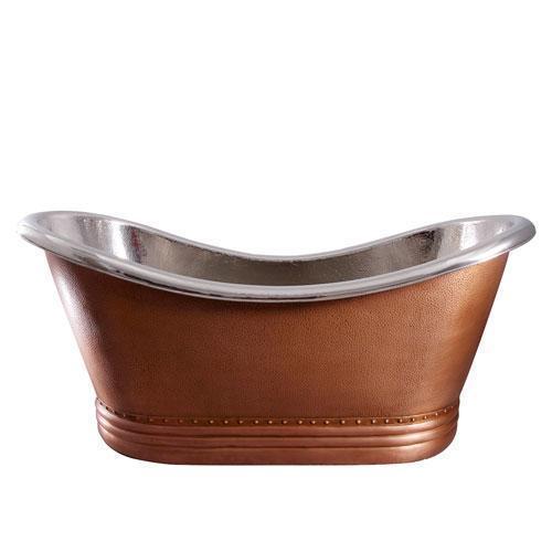 """Ashton 72"""" Copper Double Slipper Tub"""