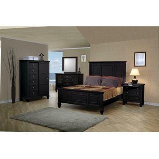 Sandy Beach Black Queen Five-piece Bedroom Set
