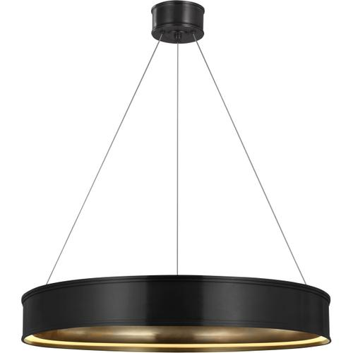 Visual Comfort - Chapman & Myers Connery LED 30 inch Bronze Ring Chandelier Ceiling Light