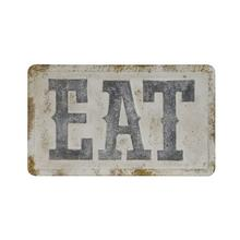 """See Details - 32-3/4""""L x 19-1/2""""H Embossed Metal Wall Decor """"Eat"""", Distressed Finish"""