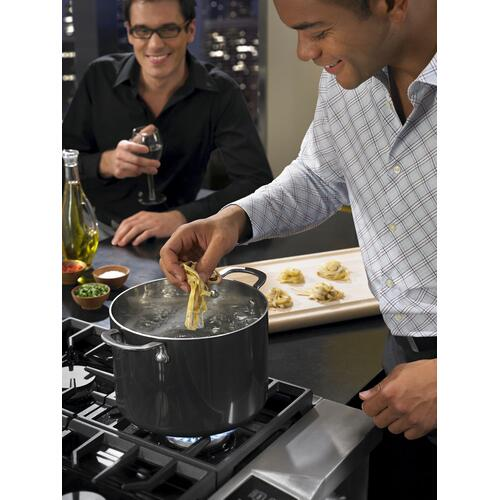 KitchenAid - 36'' 6-Burner Dual Fuel Freestanding Range, Commercial-Style Stainless Steel