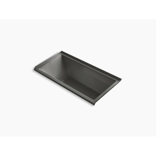 "Thunder Grey 60"" X 30"" Heated Whirlpool Bath With Right Drain"