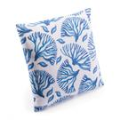 Coral Pillow Blue & White Product Image