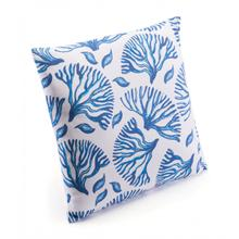 Coral Pillow Blue & White