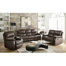 ACME Enoch Sofa (Motion) - 52450 - Dark Brown Top Grain Leather Match