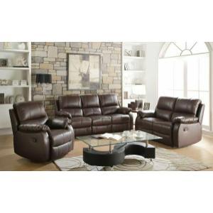 Acme Furniture Inc - ACME Enoch Sofa (Motion) - 52450 - Dark Brown Top Grain Leather Match