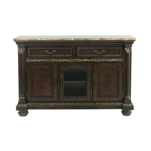 See Details - Server with Faux Marble Top