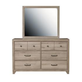 Kids Six Drawer Dresser in River Birch Brown