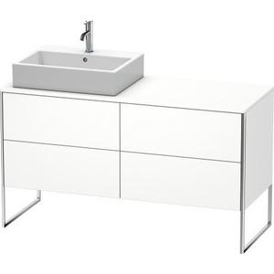 Vanity Unit For Console Floorstanding, White Matte