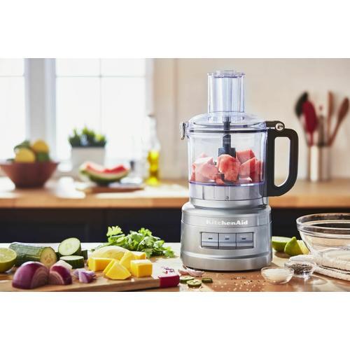 KitchenAid - 7 Cup Food Processor - Contour Silver