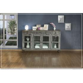 See Details - 4 Drawer & 4 Glass Doors Console
