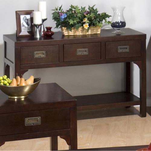Sofa Table W/ (3) Drawers and Shelf