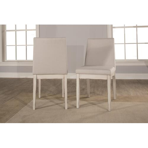 Gallery - Clarion 7-piece Rectangle Dining Set With Upholstered Chairs - Sea White
