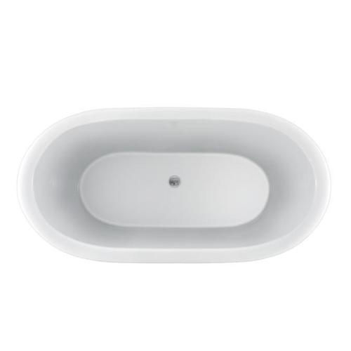 "Cordoba 71"" Acrylic Double Roll Top Tub on Base - Tap Deck - No Drillings"